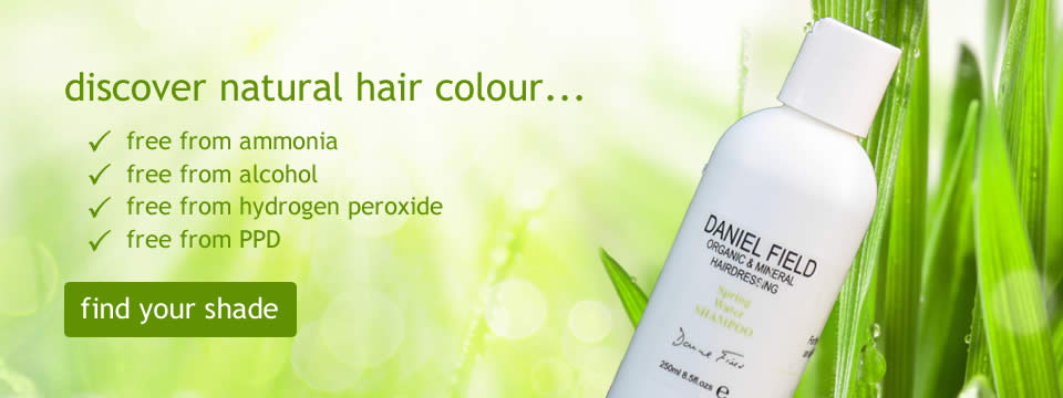 Daniel Field Water Colour Hair Dye - find your perfect shade